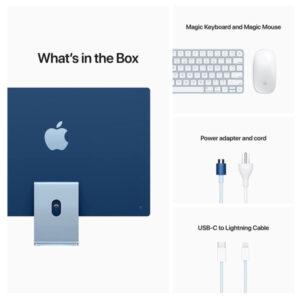 New Apple iMac with 4.5K Retina Display (24-inch, Apple M1 chip with 8‑core CPU and 7‑core GPU, 8GB RAM, 256GB) – Blue