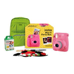 Fujifilm Instax Mini 9 Party box, Flamingo Pink Instant Camera
