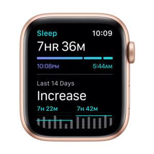 Apple Watch SE GPS, 40mm Gold Aluminium Case with Pink Sand Sport Band – Regular